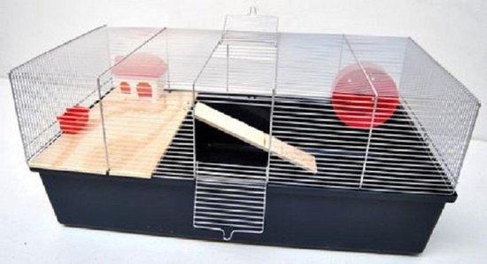 Hamster kooi -chroom/donker blauw