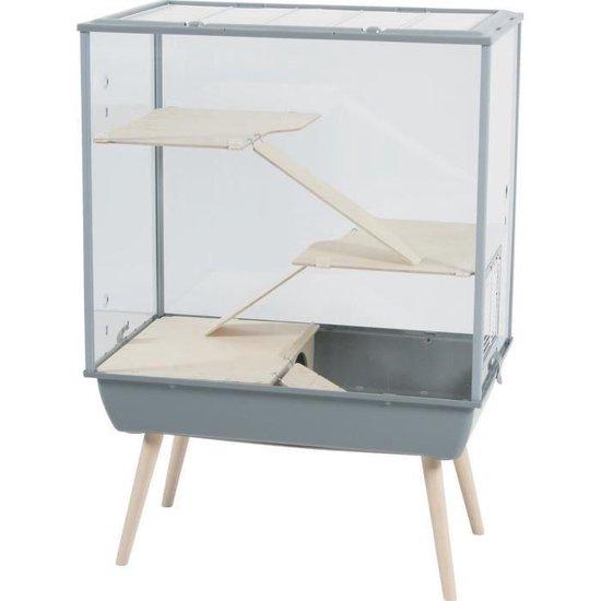 Zolux Nevo Royal Plexiglas - Grijs - 78 x 48 x109 cm
