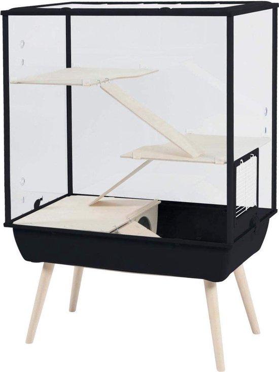 Zolux Nevo Royal Plexiglas - Zwart - 78 x 48 x109 cm