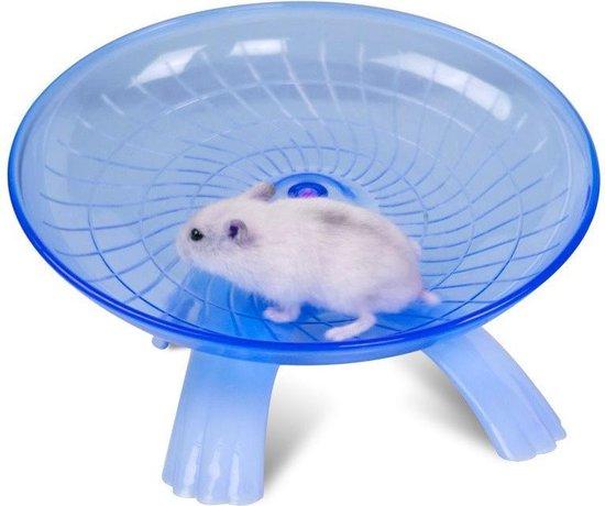 AA Commerce Hamster Wiel Looprad - Hamsterlooprad - Blauw