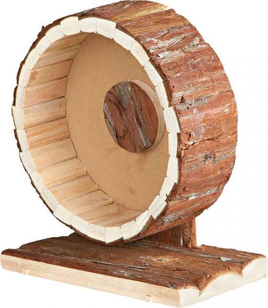 Houten looprad in schors Houtkleurig 20x12x22,5cm